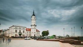 Mogilev Vitryssland Stad Hall Is Famous Architectural Landmark och arv i staden Mahilyow arkivfilmer