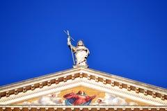 Mogliano Veneto chruch detail. Catholic church in Mogliano Veneto, Italy stock image