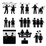 Moglie del marito delle coppie di problema della famiglia di matrimonio con il consulente Fotografie Stock