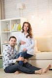 Moglie e marito incinti Fotografia Stock Libera da Diritti