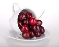 Mogna Cherry i en kaffekopp Arkivfoto