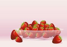 Mogna jordgubbar Vektor Illustrationer