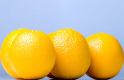 mogna läckra nya saftiga apelsiner Royaltyfria Bilder