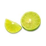 Mogna limefrukter som isoleras på vit bakgrund Royaltyfria Bilder