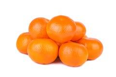 Mogna mandariner som isoleras på en vit Royaltyfria Foton