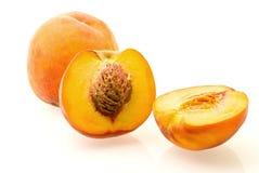 mogna nya saftiga persikor Fotografering för Bildbyråer
