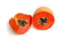 mogna papayaen Arkivbild