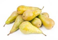 Mogna Pears på white Arkivfoton