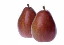 Mogna röda pears Arkivfoto