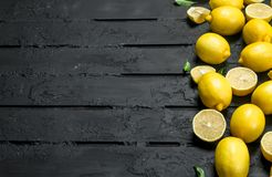 mogna saftiga citroner royaltyfria bilder