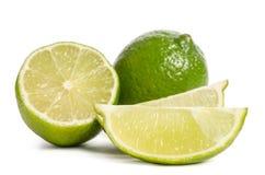 Mogna saftiga limefrukter Arkivfoto