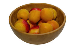 Mogna saftiga persikor Arkivfoton