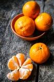 Mogna tangerinfrukter Arkivbild