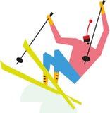 Mogoł narciarka ilustracja wektor