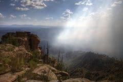 Mogollon Rim Bush Fire i Arizona arkivbild