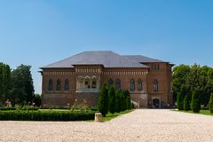 Mogosoaia, Румыния - 5-ое августа 2018: Люди посещая дворец Mogosoaia около Бухареста, Румынии Стоковые Фотографии RF