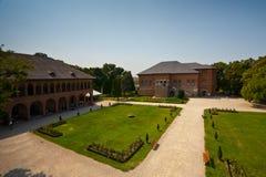Mogosoaia Palace. Interior court view of Mogosoaia Palace, near Bucharest, Romania Stock Photo