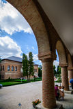 MOGOSOAIA, ROMÊNIA - 27 DE SETEMBRO: Palácio de Mogosoaia o 27 de setembro de 2015 em Mogosoaia, Romênia Foi construído entre 169 Fotografia de Stock Royalty Free