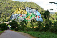 Mogotes in Valle de Viñales, Cuba- The Vinales Valley in Cuba  The Vinales valley in Cuba- colorful rock Stock Image