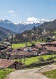 Mogrovejo village in verticval Stock Photography