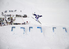 Mogul jump stock photo