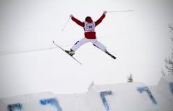 Mogul jump Stock Images