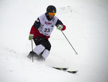 Mogul skier Royalty Free Stock Images