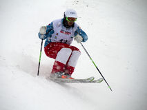 Mogul skier Stock Photo
