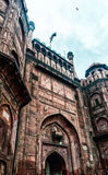 Mogularkitekturdetalj av det RÖDA FORTET, New Delhi, Indien Royaltyfri Bild