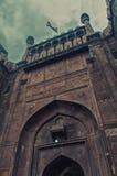 Mogularkitekturdetalj av det RÖDA FORTET, New Delhi, Indien Royaltyfri Fotografi