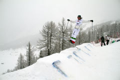 Moguls competition royalty free stock image