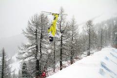 Moguls competition stock photos