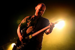 Mogwai (instrumental post-rock band from Scotland) performs at Heineken Primavera Sound. BARCELONA - MAY 30: Mogwai (instrumental post-rock band from Scotland) Royalty Free Stock Images