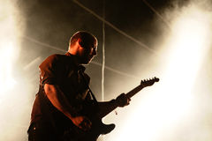 Mogwai (instrumental post-rock band from Scotland) performs at Heineken Primavera Sound 2014 Festival Stock Image