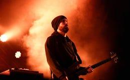 Mogwai (instrumental post-rock band from Scotland) performs at Heineken Primavera Sound 2014 Festival Stock Photos