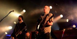 Mogwai (instrumental post-rock band from Scotland) performs at Heineken Primavera Sound 2014 Festival Royalty Free Stock Image