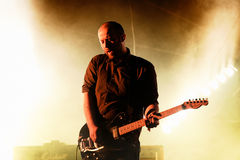 Mogwai (instrumental post-rock band from Scotland) performs at Heineken Primavera Sound 2014 Festival (PS14). BARCELONA - MAY 30: Mogwai (instrumental post-rock Royalty Free Stock Image
