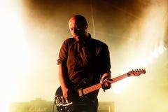 Mogwai (instrumentalet stolpe-vaggar musikbandet från Skottland), utför på den Heineken Primavera ljudfestivalen 2014 (PS14) Royaltyfri Bild