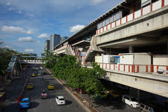 Moh Chit BTS station. BANGKOK, THAILAND - AUGUST 22, 2015: Moh Chit BTS station. Here is one of 32 BTS skytrain stations covered business, resident, and tourist stock photos