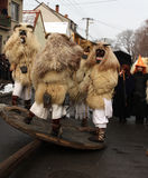 Mohacsi Busojaras Carnival in Hungary, February 2013. MOHACS / HUNGARY - FEBRUARY 10: Unidentified people, the participants of the six-day long Mohacsi Busojaras Royalty Free Stock Image