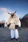 Mohacsi Busojaras karneval Arkivbild