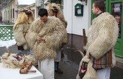 Mohacsi Busojaras Karneval in Ungarn, das Februar 2013 Stockfotos