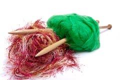 Mohair rouge et vert Image stock
