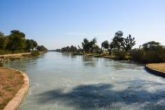 Mohajir分支运河 免版税图库摄影
