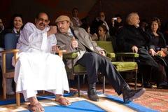 Mohamed Abdelaziz, presidente de Western Sahara Fotografia de Stock