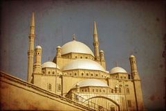 Mohamed Ali mosque,Cairo,grunge effect Stock Image