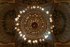 Mohamed Ali Mosque Dome Saladin Citadel - Kairo, Egypten arkivbilder