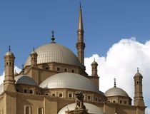 Mohamed Ali Mosque, Egypte Stock Foto's
