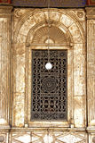 Mohamed Ali Mosques window. Royalty Free Stock Images