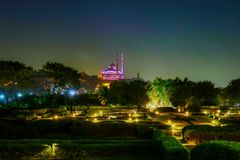 Mohamed Aly Mosuqe at night Stock Images